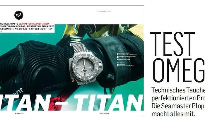 Scubamarine und die Zeitschrift Chronos testen die neue Omega Ploprof 1200M Titan